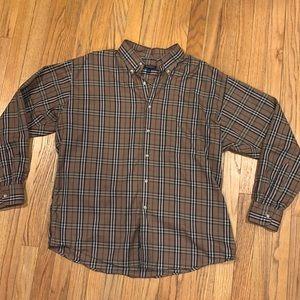 Men's authentic Burberry button up T-shirt